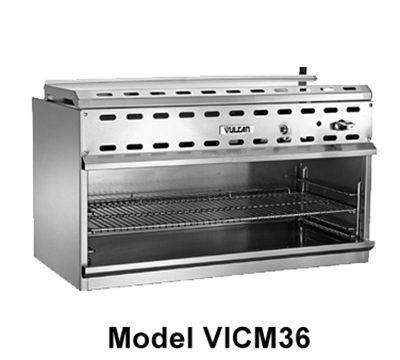 "Vulcan-hart VICM36 36"" Infrared Burner Gas Cheese Melter, LP"