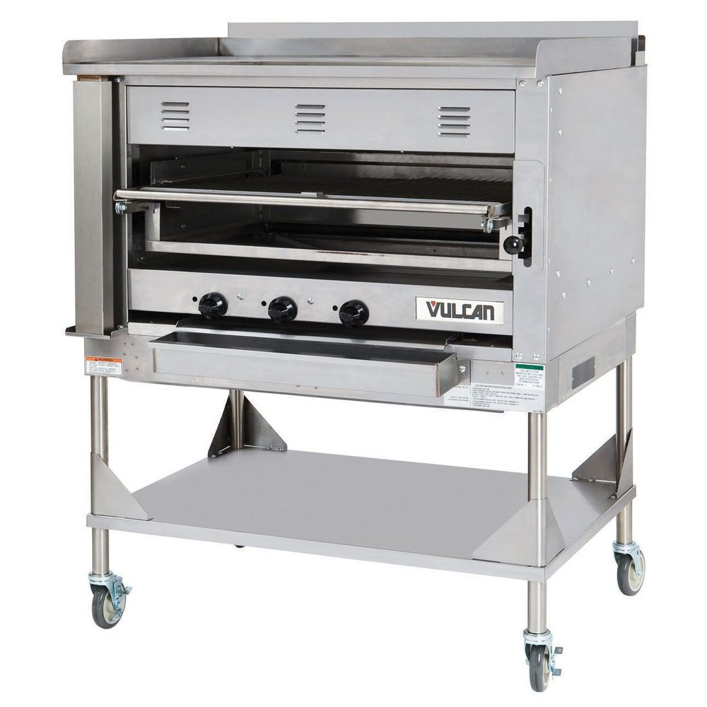 """Vulcan-Hart VST4B 45"""" Chophouse Broiler w/ Over-Fired Deck, Griddle Plate, NG"""