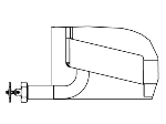"Vulcan-Hart BPDOV-2 2"" Draw Off Valve, Left Side 90-Degree w/ Strainer"