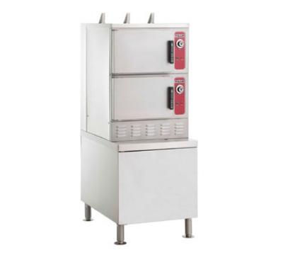Vulcan-Hart C24GA10-DLX Gas Floor Model Steamer w/ (10) Full Size Pan Capacity, LP