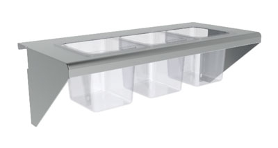 Vulcan-Hart CONRAIL-ACB36 Condiment Rail Only for (5) Sixth-Size & (2) Third-Size Pans