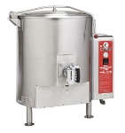 Vulcan-Hart GT100ELP Stationary Kettle w/ 100-Gallon Capacity, Spring Assisted Cover, LP