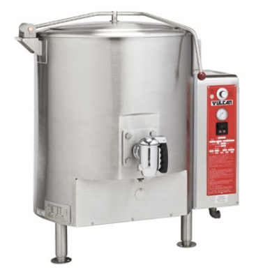 Vulcan-Hart GT125E LP Fully Jacketed Stationary Kettle, 125-Gallon Capacity, LP