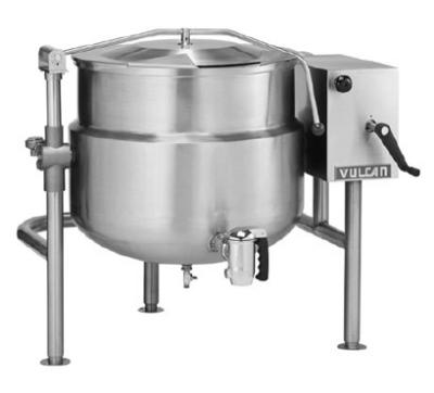 Vulcan-Hart K20DLT 20-Gallon Stationary Kettle w/ Manual Tilt, Faucet Bracket