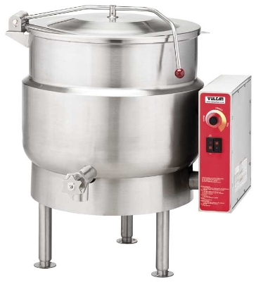 Vulcan-Hart K40EL 2403 Stationary Kettle w/ 40-Gallon Capacity, Spring Cover, 240/3 V
