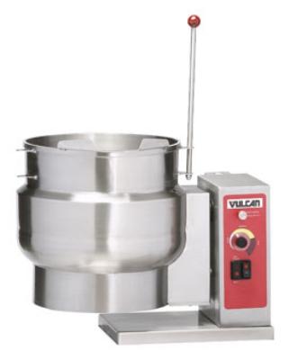 Vulcan-Hart K6ETT 6-Gallon Tilting Countertop Kettle w/ Faucet Bracket, Cleaning Lock