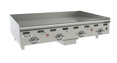 "Vulcan-Hart MSA48-30 NG 48"" Gas Griddle - Thermostatic, 1"" Steel Plate, NG"
