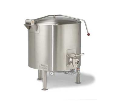 Vulcan-Hart ST100 Stationary Kettle, Fully Jacketed w/ 100-Gallon Capacity, Spring Cover