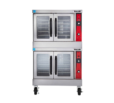 Vulcan-Hart VC44ED Double Full Size Electric Convection Oven - 208v/1ph