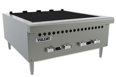 Vulcan-Hart VCRB25LP 25-3/8-in Charbroiler, Countertop w/ 4-Cast Iron Burners, LP