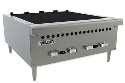 "Vulcan-Hart VCRB25 25-3/8"" Charbroiler, Countertop w/ 4-Cast Iron Burners, LP"
