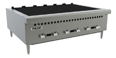 Vulcan-hart VCRB36NG 36-in Charbroiler, Countertop w/ 4-Cast Iron Burners, NG