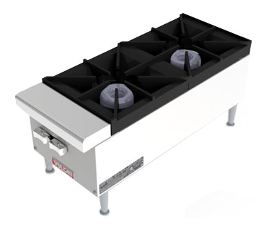 Vulcan-Hart VCRH12LP 12-in Hotplate, 2-Open Burners w/ Lift-Off Burner Heads, LP
