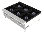 Vulcan-Hart VCRH36NG 36-in Hot Plate w/ 6-Open Burners, Lift-Off Burner Heads, NG