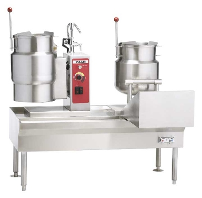 Vulcan-Hart VKT80/6666 80-in Kettle Assemble w/ 4-Kettle, Direct Steam, 24-Gallon Capacity