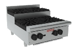 "Vulcan-Hart VHP424U LP 24"" Achiever Hotplate w/ 2-Open Burner, 2-Step-Up Burner, LP"