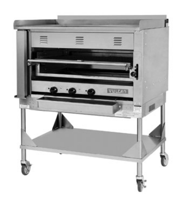 Vulcan-Hart VST4B NG 45-in Chophouse Broiler w/ Over-Fired Deck, Griddle Plate, NG