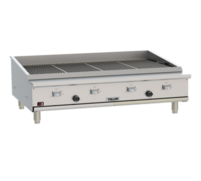 "Vulcan VTEC48 47-1/2"" Countertop Charbroiler w/ Conversion Burner, LP"