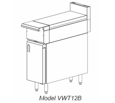Vulcan-Hart VWT12 LP 12-in Heavy Duty Range, Work Top, Modular, LP