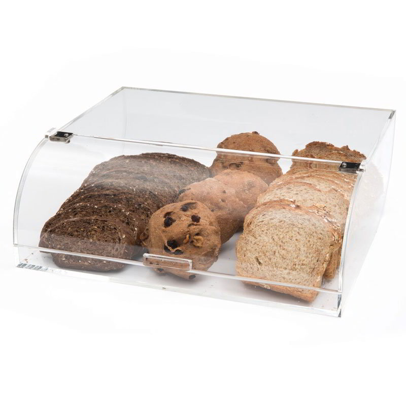 "Rosseto BAKST2248 Countertop Bakery Display Bin - 12x15x5"" Acrylic, Clear"