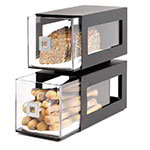 Rosseto Serving Solutions BD101 2-Drawer Countertop Bakery Display Case, Acrylic/Stainless, Black