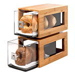 Rosseto BD102 2-Drawer Pastry Display Base - Acrylic/Bamboo