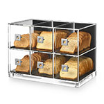 "Rosseto BD115 6-Drawer Bakery Case - 19.25"" x 12"" x 13.75"", Clear Acrylic"