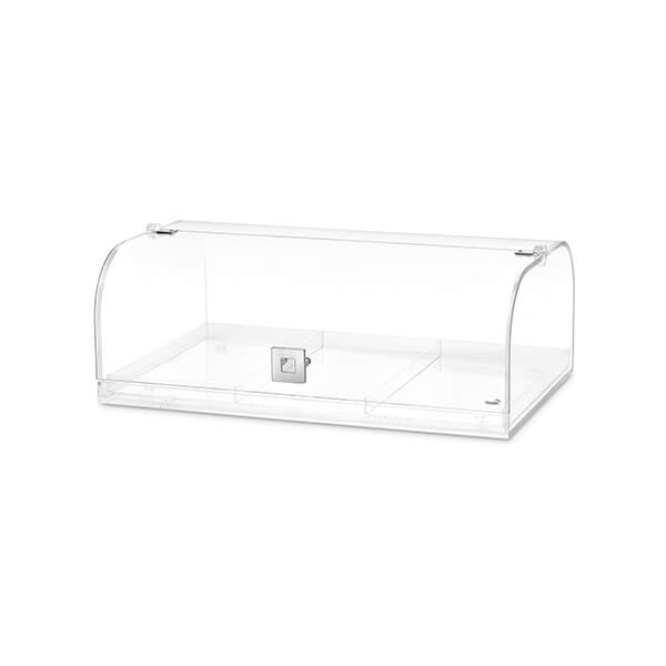 """Rosseto BD119 Bakery Case w/ Removable (3) Row Divider, 19.25"""" x 12"""" x 7"""", Acrylic, Clear"""
