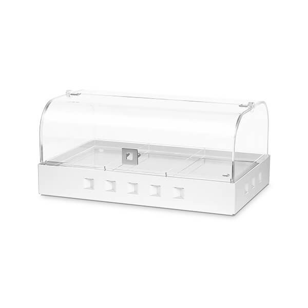 Rosseto BD123 Bakery Case w/ Removable (3) Row Divider, Clear Acrylic