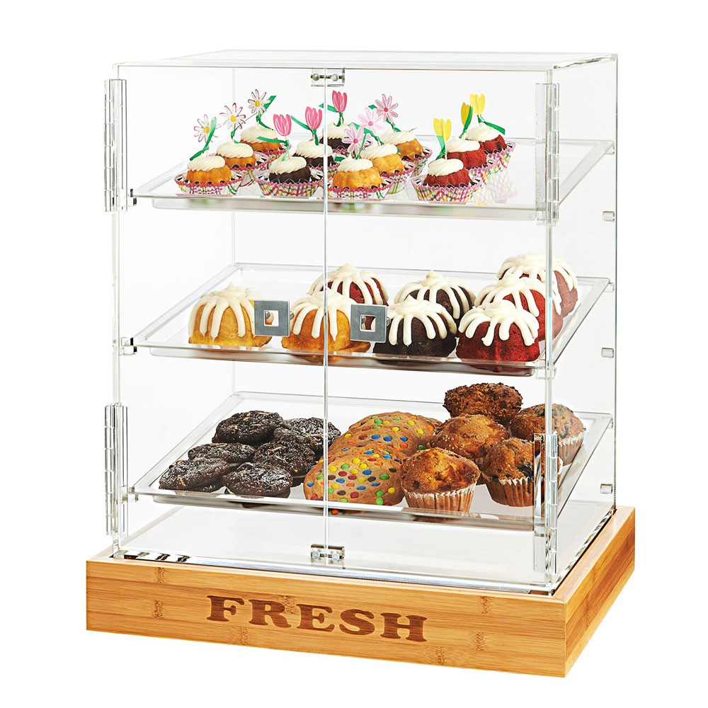 """Rosseto BD125 Bakery Cabinet w/ (2) Doors, 21.5"""" x 17"""" x 25.5"""", Clear Acrylic"""