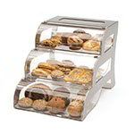 "Rosseto BK010 3-Drawer Bakery Stand - 15-1/4x23-1/4x15-1/2"" Acrylic/Stainless"