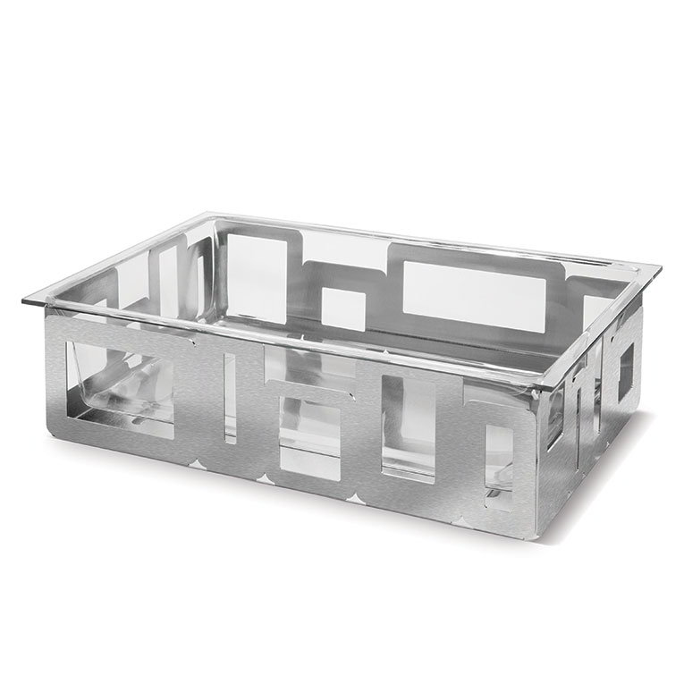 "Rosseto D62577C Rectangular Ice Tub - 21x13x6"" Acrylic/Stainless"