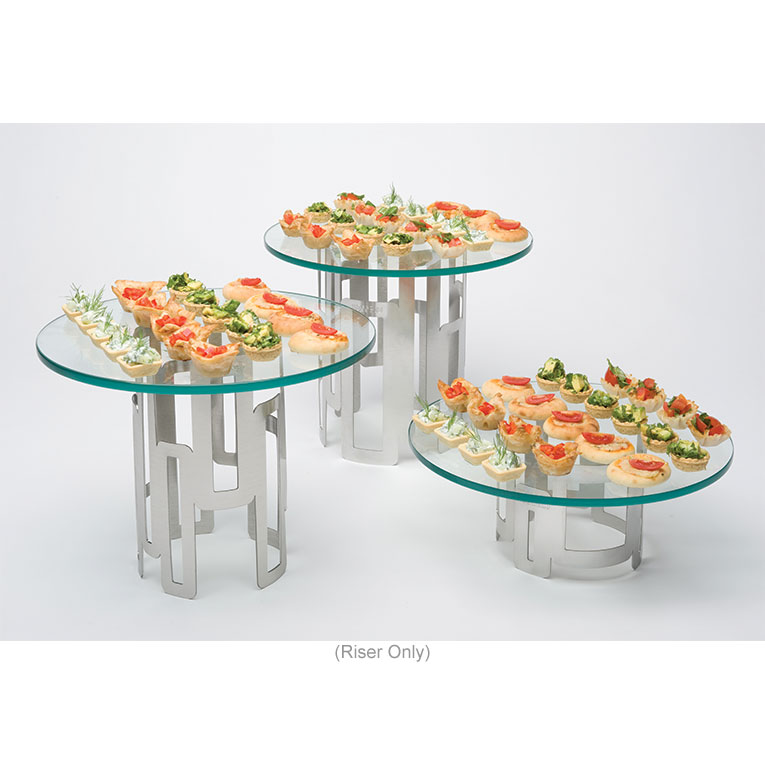 """Rosseto D62877 Round Display Riser - 6-1/2x5"""" Stainless"""