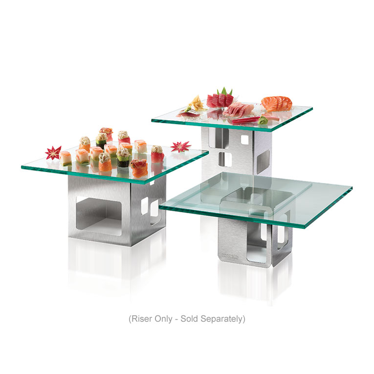 """Rosseto D63177 Square Display Riser - 7x7x7"""" Stainless"""