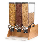 Rosseto DS102 Candy Dispenser w/ (3) 3.5-gal Containers, Bamboo Stand