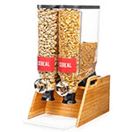 Rosseto DS103 Dry Product Dispenser w/ (2) 3.5-gal Containers, Bamboo Stand