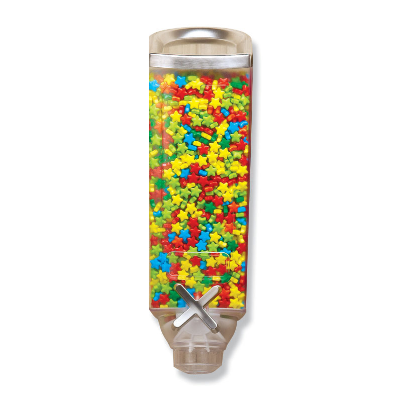 Rosseto EZ501 1-gal Wall-Mount Candy Dispenser - Clear