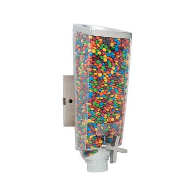 Rosseto EZ501 1-gal Wall-Mount Candy Dispenser - Clear