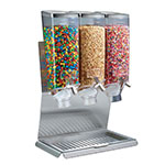 Rosseto EZ51377 Triple 1-gal Candy Dispenser with Stand - 3-gal Capacity, Clear/Stainless