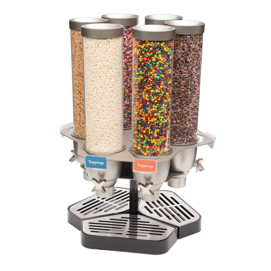 Rosseto EZ563 Carousel Candy Dispenser w/ (6) 1.3-gal Containers