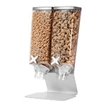 Rosseto EZ565 Dry Product Dispenser w/ (2) 1-gal Containers - Metal Stand, Silver