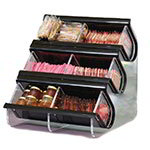 Rosseto EZO739 Countertop Condiment Caddy - (6)Compartments, Black