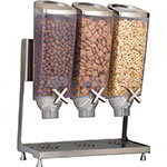 Rosseto EZP2135 Dry Product Dispenser with Stand - (3)1-gal Capacity, Clear/Stainless