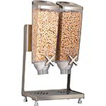 Rosseto Serving Solutions EZP2746 Dry Product Dispenser with Stand - (2)1-gal Capacity, Clear/Stainless