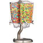 Rosseto EZP2760 Carousel Candy Dispenser with Stand - (4)1-gal Capacity, Clear/Stainless