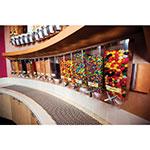 Rosseto EZP2890 Wall-Mount Candy Dispenser - (5)1-gal Capacity, Clear