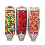 Rosseto EZP2906 Wall-Mount Candy Dispenser - (3)1-gal Capacity, Clear