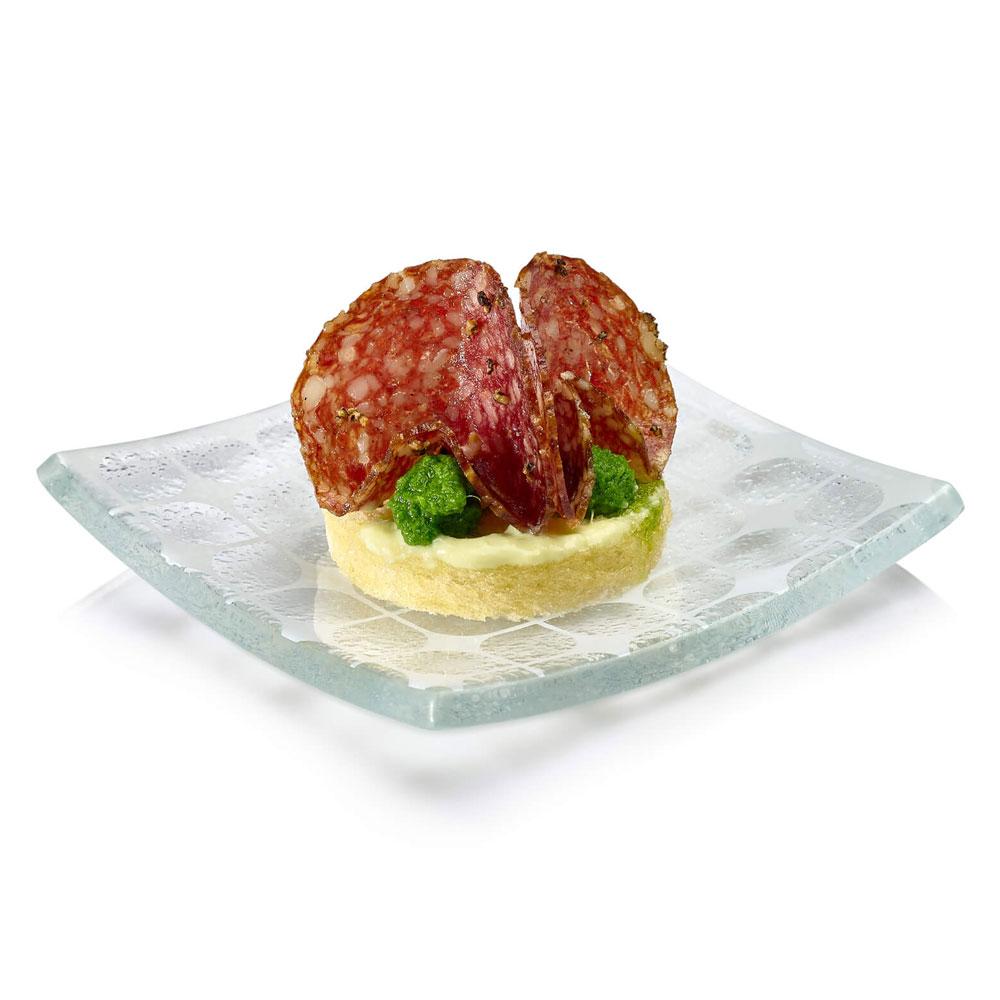 "Rosseto GLS013 3.9"" Square Mini Plate, Clear"