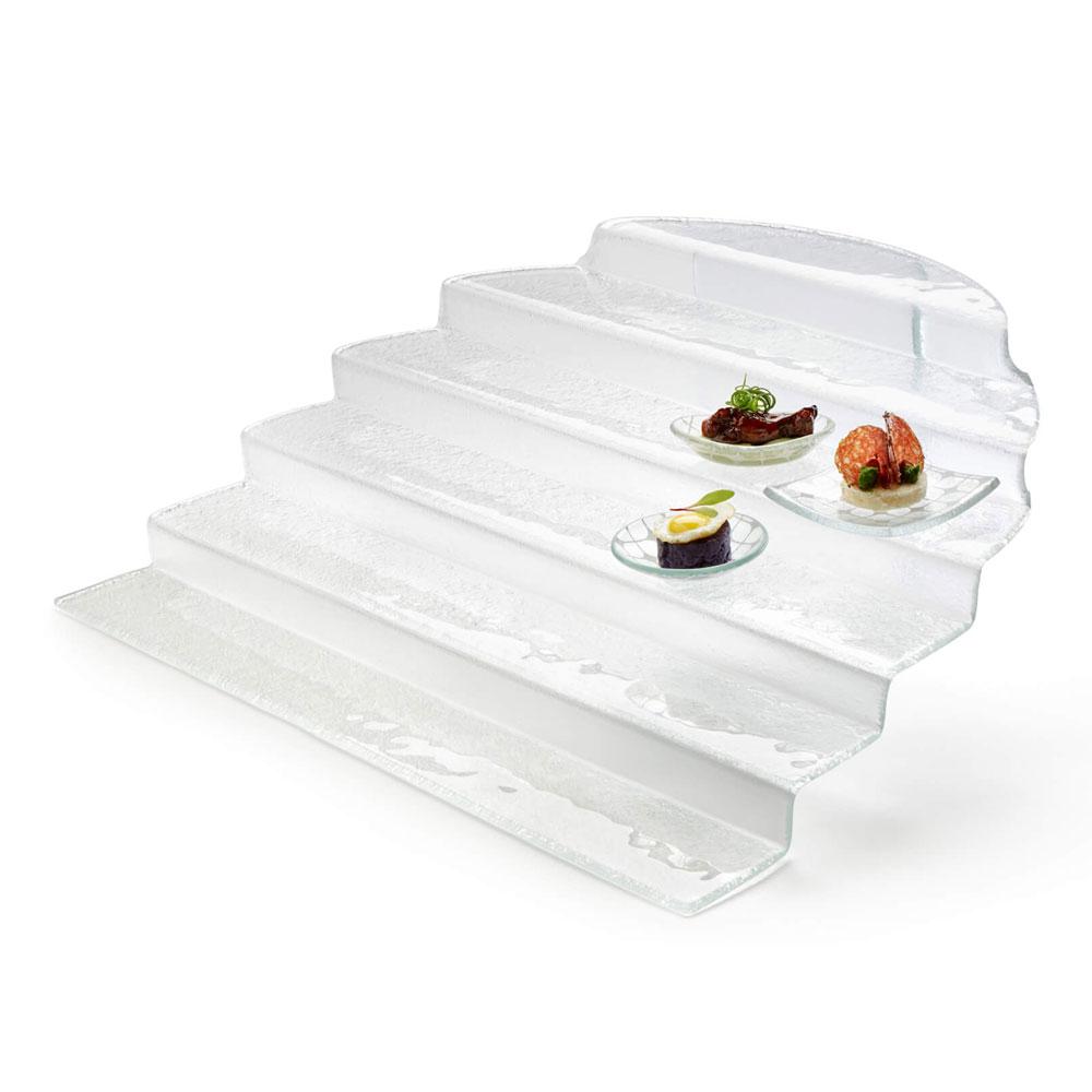 "Rosseto GLS020 Buffet Steps, 20.9"" x 23.6"", Clear"