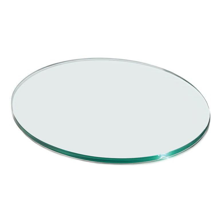 """Rosseto GTC35 14"""" Glass Round Display Shelf/Tray - Clear"""
